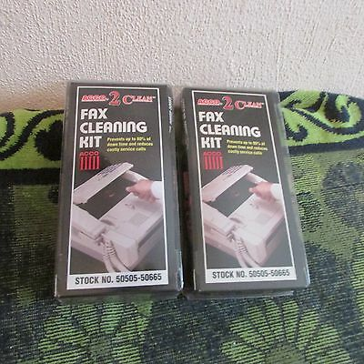 2 New Acco 2 Clean, Fax Cleaning Kits. Helps Prevent Downtime