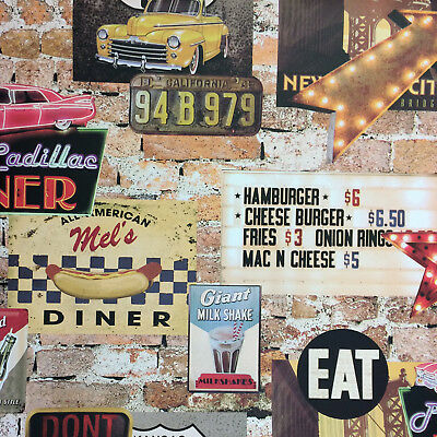 Arthouse USA American Diner Cafe Feature Wallpaper 889600