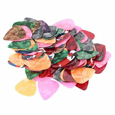 100Pcs Unlettered Thin Guitar Picks Celluloid Stringed Instruments Accessories