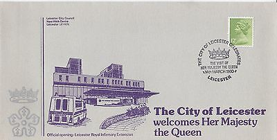 GB 1980 Visit of Queen to Leicester VGC FDC