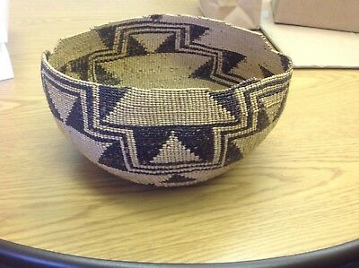 Antique Native American Indian basket large southwest United States as is NR