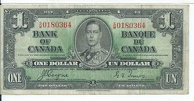 Bank of Canada $1 Jan 2 1937  SM0180364 Currency Note Very Fine