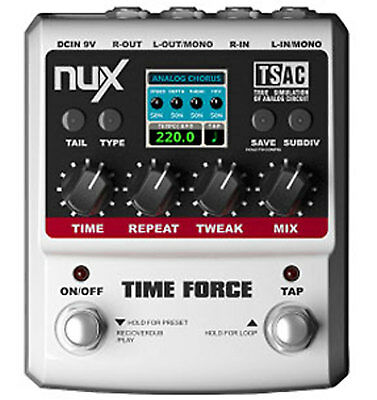 Customer Returned NuX Time Force Digital/Analogue Delay Multi Effects Pedal and