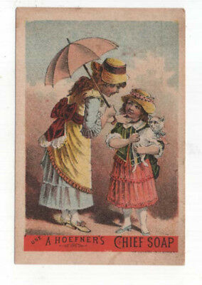 Akron, New York, R. D. MILLER, Groceries Trade Card, Hoefner's CHIEF SOAP