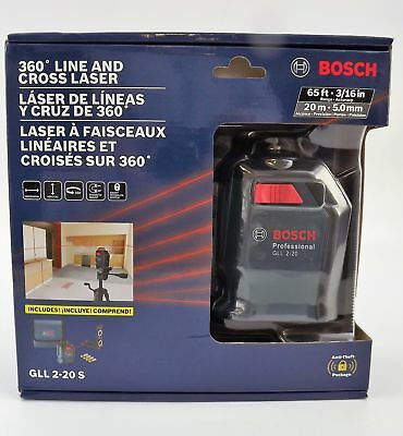 Bosch 360 degreee Line And Cross Laser NEW GLL2-20S