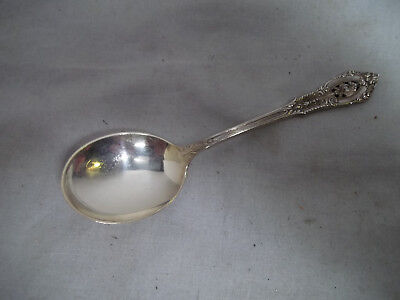 Wallace Rose Point  Sterling Silver Soup Spoon