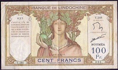 100 Francs From Noumea New Caledonia French Colony
