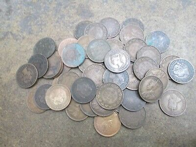 Lot of Fifty Canada Large Cents 1859-1920 Mixed Condition No Reserve