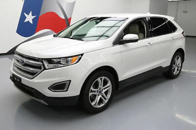 2015 Ford Edge Titanium Sport Utility 4-Door 2015 FORD EDGE TITANIUM ECOBOOST REAR CAM BLUETOOTH 57K #B06927 Texas Direct