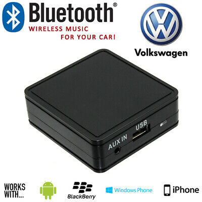 Volkswagen VW Bluetooth Music Streaming Aux Interface Adaptor For Mobile Phones