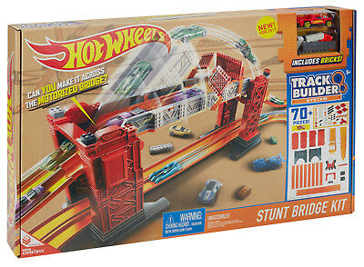 Mattel - Hot Wheels Track Builder Bridge Stunt Kit, Neu, Ovp, DWW97