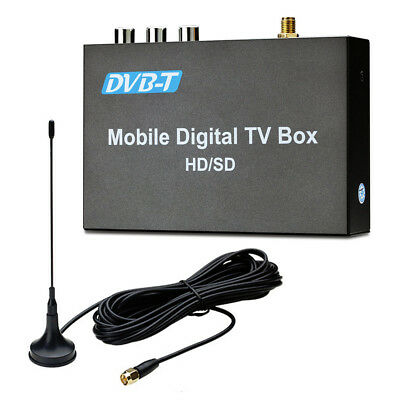 Car Digital DVB-T Freeview HDMI USB TV Tuner Receiver with Aerial