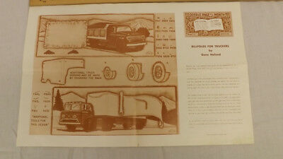 Vtg Craftaid Doodle Page Trucker Wallets Series 8-B/12 by Gene Noland