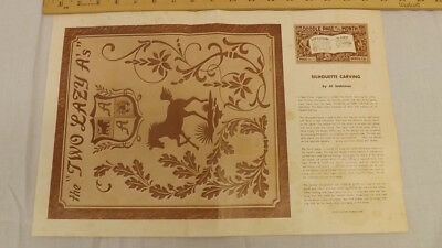 Vtg Craftaid Doodle Page Silouhette Carving Horse Series 7-B/11 by Al Stohlman