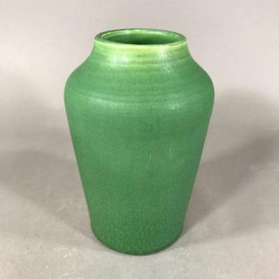 HAMPSHIRE Art Pottery Vase with Matte Green Glaze, NH Arts & Crafts, c. 1905