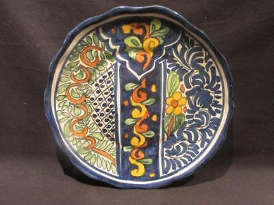 "Onofre Talavera Hand Painted Pottery 11"" Plate for Wall Display"