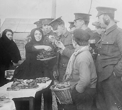 French women selling food to British troops Etaples World War I WWI 8x10 Photo