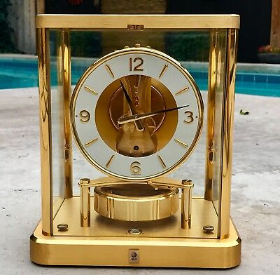Superb 1980s JAEGER LeCOULTRE ATMOS 540 Mantle CLOCK AT&T # 612410 WORKING Swiss