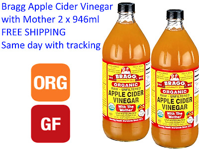 Bragg Apple Cider Vinegar 946ml x 2 with Mother  *  FREE SHIPPING with Tracking