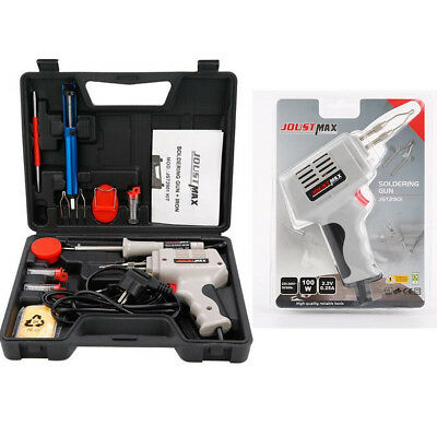 Electrical Soldering Tool Kit Set 30W Iron & 100W Gun Solder Stand Tool & Case