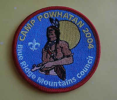 Camp Powhatan Blue Ridge Mountains Council 2004 Boy Scout BSA New Iron-On Patch