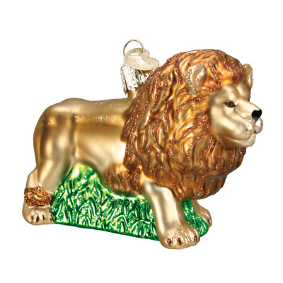 """""""King of Beasts"""" (Lion) (12211) Old World Christmas Glass Ornament w/OWC Box"""