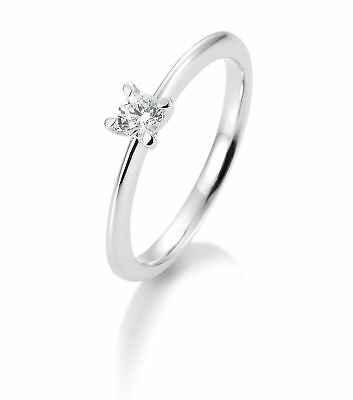 OR BLANC FEMME Bague à brillant 41-05635-0-54 585 Or Blanc