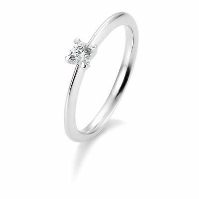 OR BLANC FEMME Bague à brillant 41-05634-0-53 585 Or Blanc