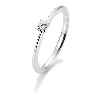 OR BLANC FEMME Bague à brillant 41-05633-0-52 585 Or Blanc