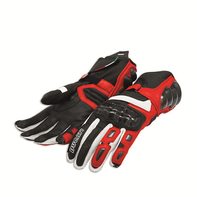 Ducati Performance C2 Gloves Leather Red Black NEW 2018 Genuine