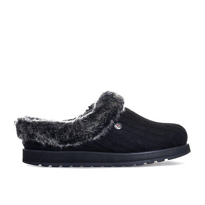 Womens Skechers Bobs Keepsakes Ice Angel Slippers In Black From Get The Label