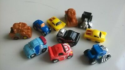 Cars x 10 random assortment  DOLLS HOUSE MINIATURES / RAILWAY (F5911)