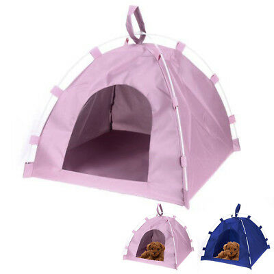 Portable Foldable Pet Enclosure Tent Dog Cat Camping Pop up Shelter With Mat