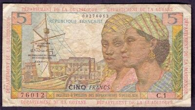 5 Francs From Guyane French Antilles