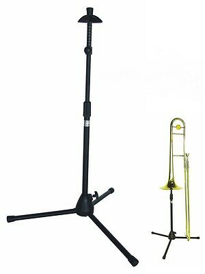 DIMAVERY Stand for Trombone, Trombone stand, Color black