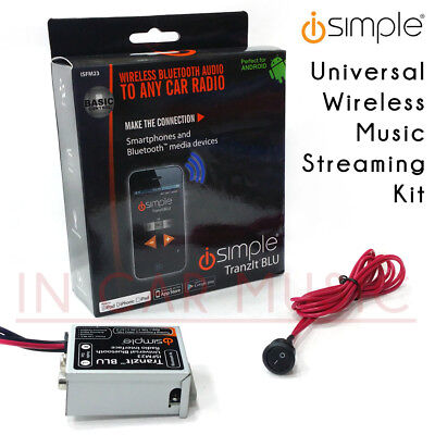 iSimple ISFM23 Universal Radio Bluetooth Car Music Streaming FM Modulator Kit