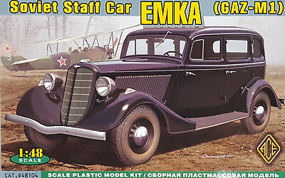 ACE #48104 Soviet Staff Car EMKA (GAZ-M1) in 1:48