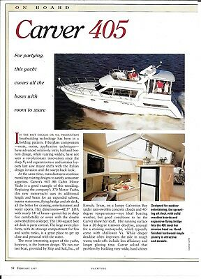 1997 Carver 405 Yacht Review & Specs- Nice Photo