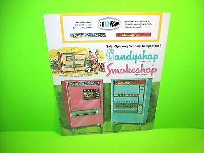Automatic Products Candyshop Smokeshop Original Coin-Op Vending Machine Flyer