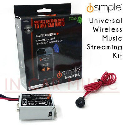 Isimple ISFM23 Universel Radio Bluetooth Voiture Musique en Streaming Fm