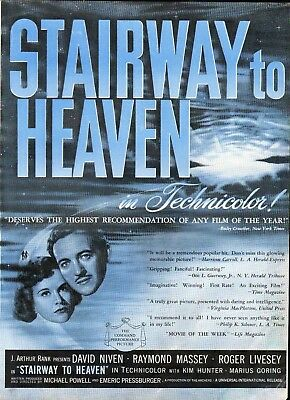 1947 Stairway To Heaven Movie David Niven Ad