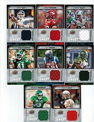 2015 Upper Deck CFL Football Game Jersey GJ-RF Rickey Foley Toronto Argonauts