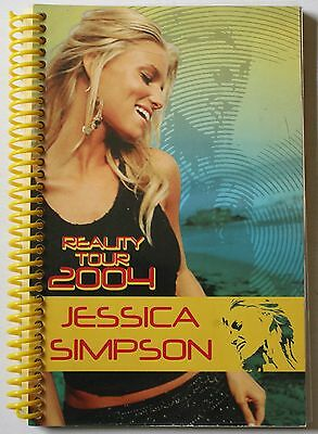 """Rare 2004 Jessica Simpson Reality Tour Itinerary 8 1/2 X 6"""" Book Concert"""