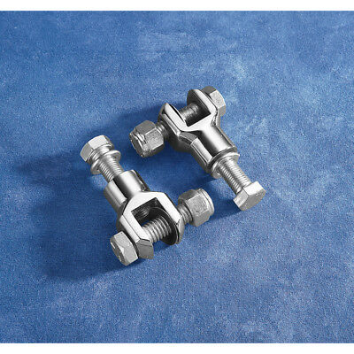 """Chrome Footpeg Clevis Mounts With 3/8"""" x 24 Thread For Harley-Davidson"""
