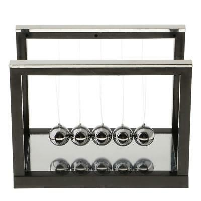 Newton's Balance Ball Cradle Home Office Desktop Ornaments Gift Black - L