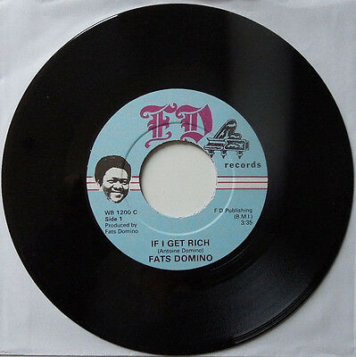 """7"""" Singles """"fats Domino"""" If I Get Rich"""