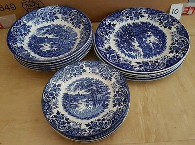 Ironstone broadhurst english scene  dinner set for 5