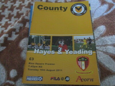 Newport  County  V  Hayes  And  Yeading  2011-12