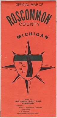 1973 Roscommon County Michigan Official Map Brochure