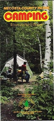 1981 Mecosta County Camping Map & Guide Brochure